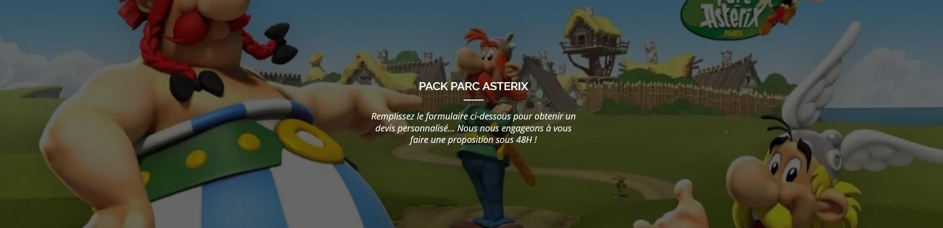 Pack Parc Astérix
